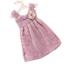 Toilet Princess Skirt Wipes Towel Hanging Strong Water Absorption Towel, Purple