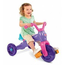 Fisher Price Deluxe Grow With Me Girls Ride-On Trike Tricycle