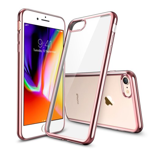 the best attitude c988f e48f2 ESR iPhone 8 Case, iPhone 7 Case, Crystal Clear Transparent Gel Case  [Slim-Fit] [Anti-Scratch] [Shock Absorption] for 4.7