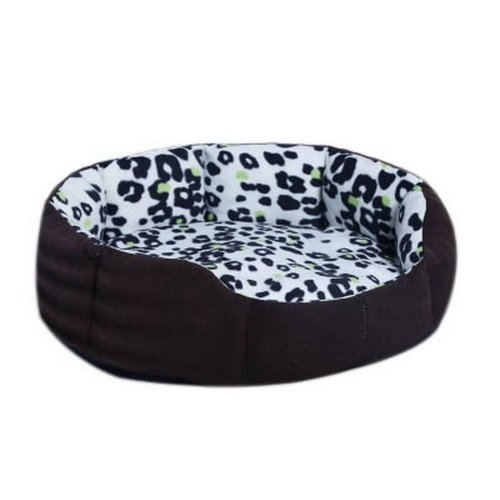 Detachable Small And Medium-sized Pet Kennel, Green Leopard Pattern