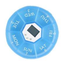 7 Days Pill Reminder Medicine Storage Container Electrontimer Pill Case Blue