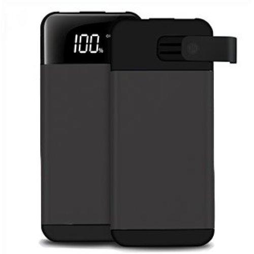 ARIO®20000mAh PowerBank 2USB LCD screen for all mobile phones (Black)
