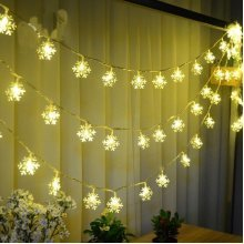 Snowflake Waterproof LED Flash Lights String Decoration Festival Wedding Decor