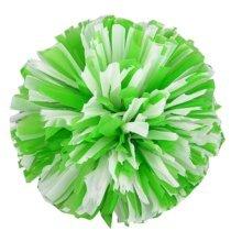 2 Pcs Cheerleader Pom Poms Sports Cheerleading Flower Ball,White +Green
