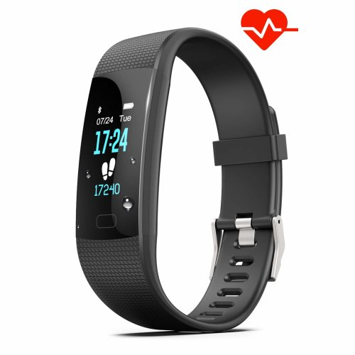 Fitness Tracker HR, Y1 Activity Tracker Watch with Heart Rate Monitor, Pedometer IP67 Waterproof Sleep Monitor Step Counter for Android & iPhone...