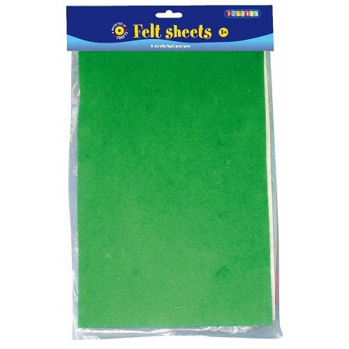 Pbx2470037 - Playbox - Felt Sheets (8 Colours) - 8 Sheets