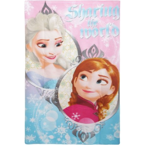 Disney Frozen Sharing The World Character Fleece Blanket Throw
