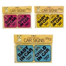 Baby/Child in Car Signs 2 Pack Pink
