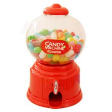 Candy Storage Box, Functional Home Decor Ornament Money Bank Coin Box,  Red