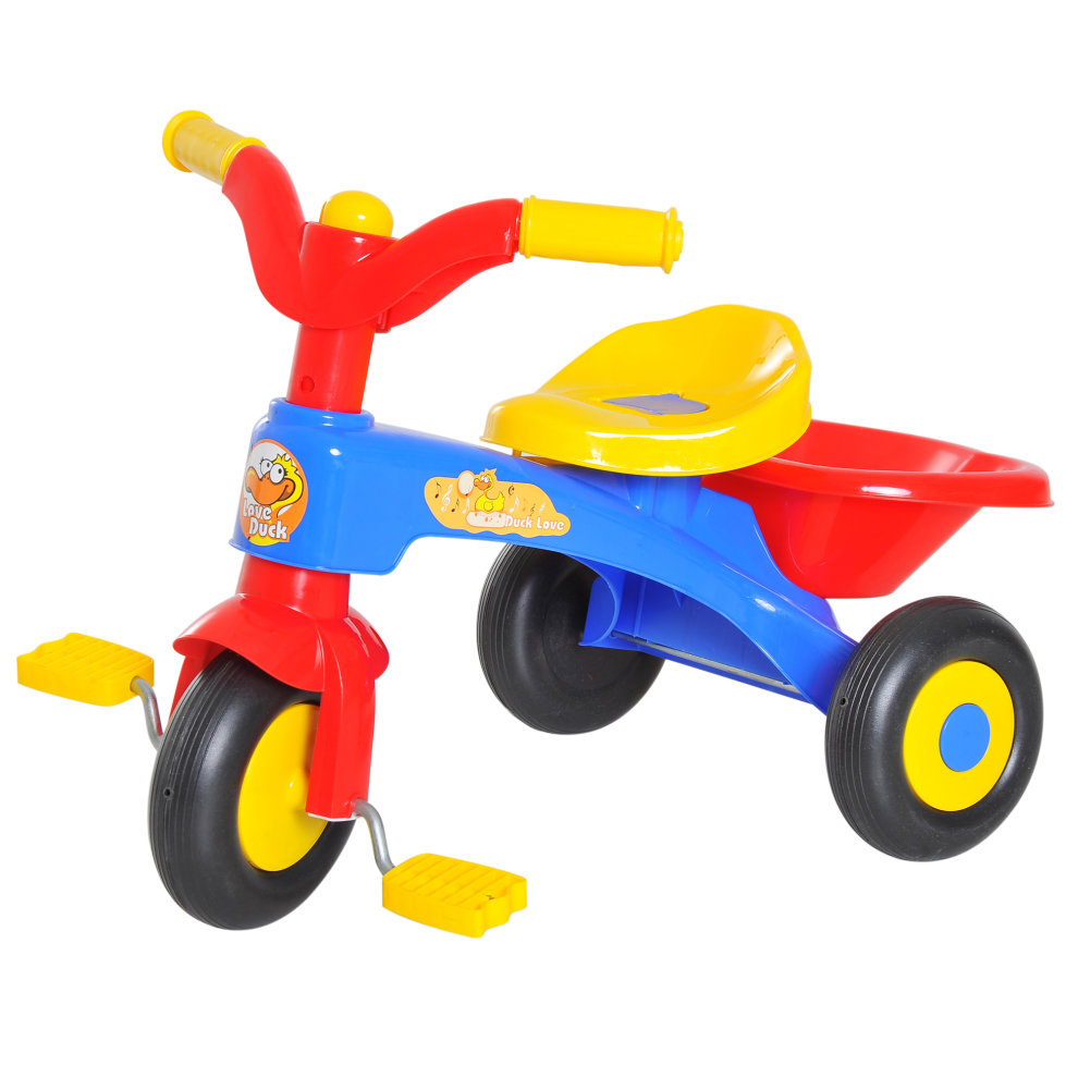 c5d341334b7 ... HOMCOM Kids Toddler 3 Wheels Pedal Bike Ride-on Bicycle Tricycle First  Trike Scooter Baby. >