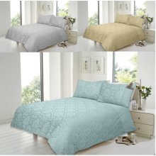 Savoy Cotton Rich Jacquard Duvet Quit Cover Bedding Set