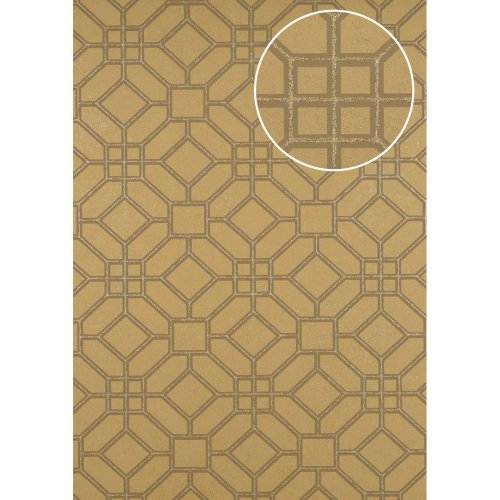 ATLAS HER-5134-5 Graphic wallpaper shimmering gold brown grey 7.035 sqm