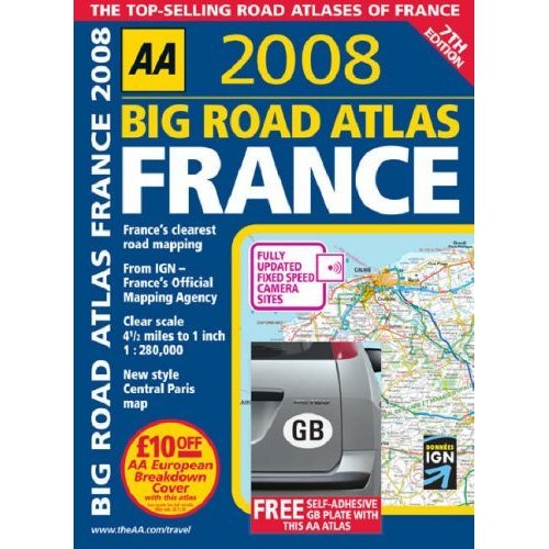 AA 2008:Big Road Atlas France