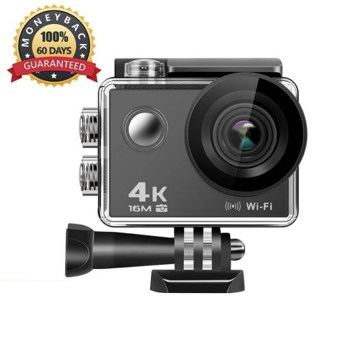 Anmade Action Camera 4k, 16MP WiFi Anti-Shake Waterproof Sports Camera with Hi-Tech Sensor, 170 Degree Ultra Wide Angle 2.0 Inch LCD Screen,...