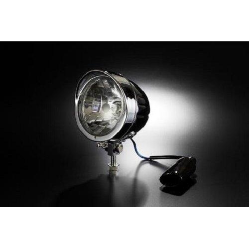 "5"" Chrome Steel Bottom Mount Motorbike Motorcycle Headlight 55/60w"