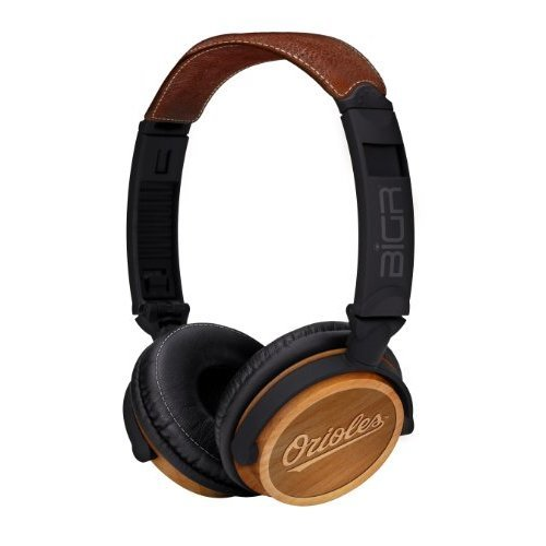 BiGR Audio xlmlbbo3 Baltimore Orioles Natural Wood Finish Headphones for Smartphones