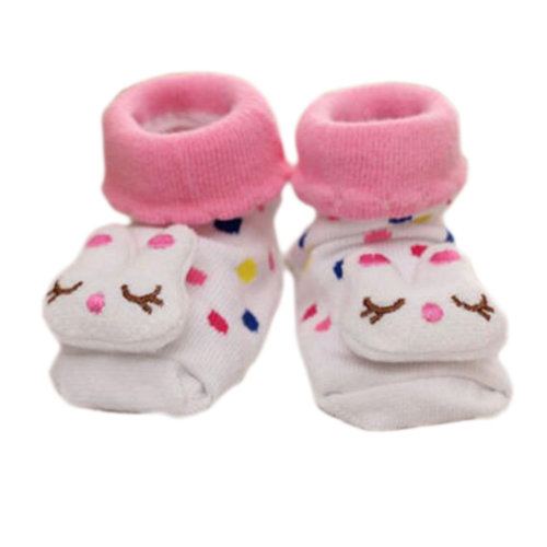 3 Pairs Non-slip Newborn Baby Boy Girls Toddler Socks Warm Non-skid Stockings Baby Gift For 6-12 Month Baby-A08