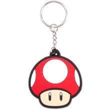 NINTENDO SUPER MARIO BROS. Mushroom Rubber Keychain (KE141766NTN)