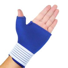 Pair of Elastic Palm Support Wrist Gloves Brace Hand Protector Sports - Blue
