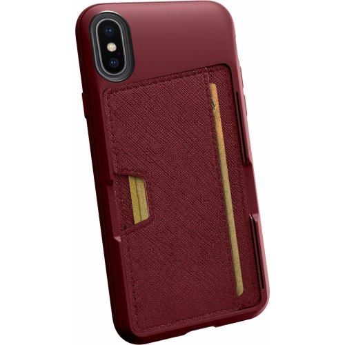 brand new fff7d 895cc Silk iPhone Xs / X Wallet Case - Q CARD CASE [Slim Protective Kickstand CM4  Grip Cover] -