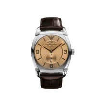 Emporio Armani AR0343 Women's Stainless Steel Brown Leather Watch