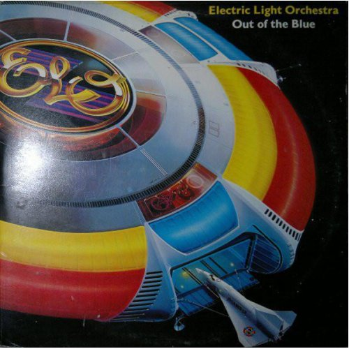 Out Of The Blue + Spaceship & poster (UK 1977) , Electric Light Orchestra