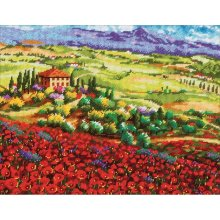 * Dimensions Needlepoint Kit -Tuscan Poppies