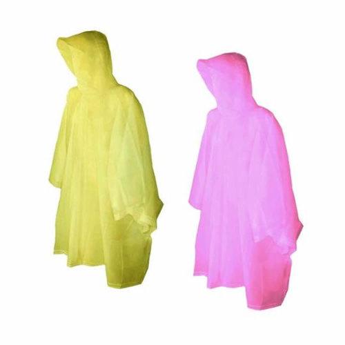 Reusable Plastic Adult Waterproof Poncho Camping Festival Walking Rain Coat Cape
