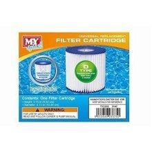 M.Y Splash 4 X Type D Universal Filter Replacement Cartridge Swimming Pool
