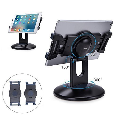 "AboveTEK Retail Kiosk iPad Stand, 360° Rotating Commercial Tablet Stand, 6-13.5"" iPad Mini Pro Business Tablet Holder, Swivel Design for Store POS..."