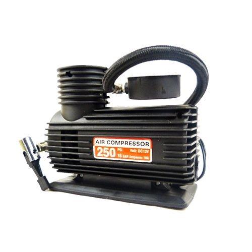 Megastore 247 - Tyre Compressor Pump - 12V DC Car and Bike Inflator - 250 PSI