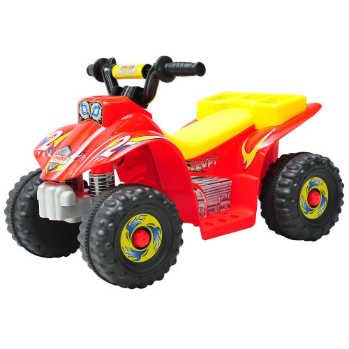 HOMCOM Kids 6V Electric Car Children Ride-on Toy Off Rechargeable Battery - Red
