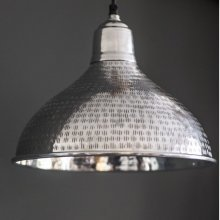 Etched Silver Pendant Light
