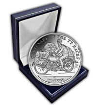 Isle of Man 2007 Centenary of the TT Races Charlie Collier CuNi Coin in a box