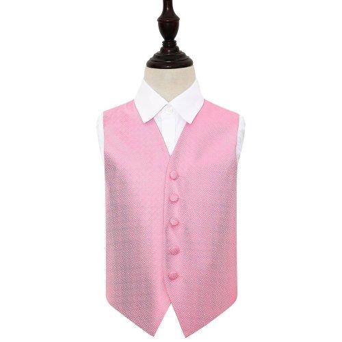 Baby Pink Greek Key Wedding Waistcoat for Boys 32'