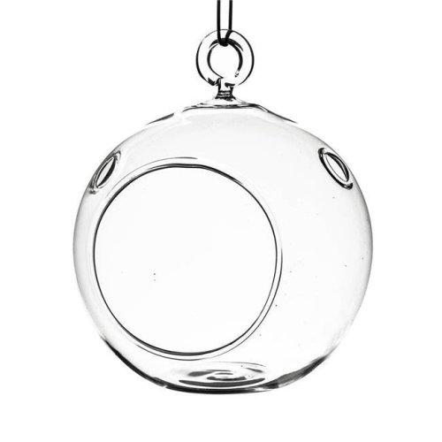 Athenas Garden HCH0104 4 in. Clear Round Hanging Terrarium Globe, Set of 2