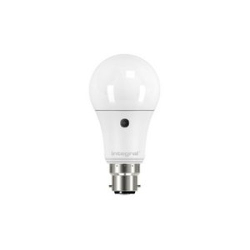 Integral LED Low Energy Dusk Till Dawn Sensor Light Bulb ES E27 Screw Cap =60w Warm White 2700K