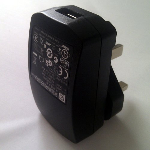 LED Lenser USB AC adaptor for X7R, P5R and M7R. 3 pin UK plug