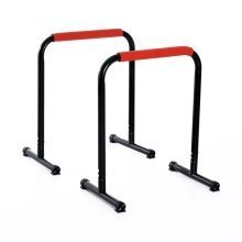 Homcom Parallettes Push Up Bar Stands | Dip Station | Gymnastic Bars