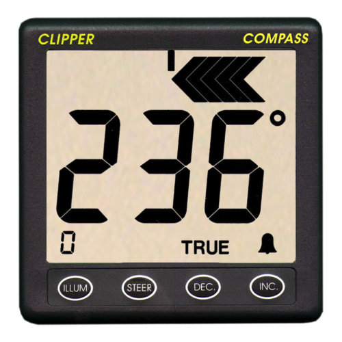 NASA Marine Clipper Compass System with Fluxgate Sensor & 10m Cable¦12v DC¦Boats