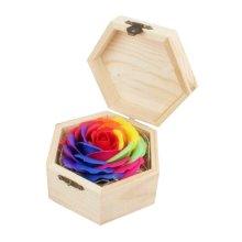 Creative Hexagonal Wooden Box Soap Box Flowers Gift Box Storage Box