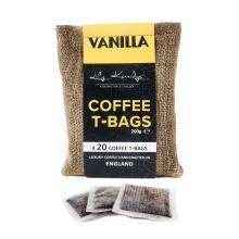 20pc Lily Kerridge Coffee Vanilla Coffee T-Bags | Vanilla-Flavoured Coffee