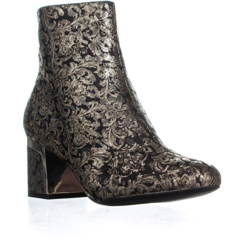 DKNY Corrie Ankle Boots, Brocade Black/Gold, 6 UK