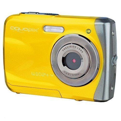 AquaPix W1024-Y Waterproof Camera - Yellow (10 MP) 2.4-Inch TFT LCD