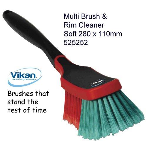 Vikan 525252 Multi Brush, Quality, Car Alloys Wheels Bodywork Washing Sweeping