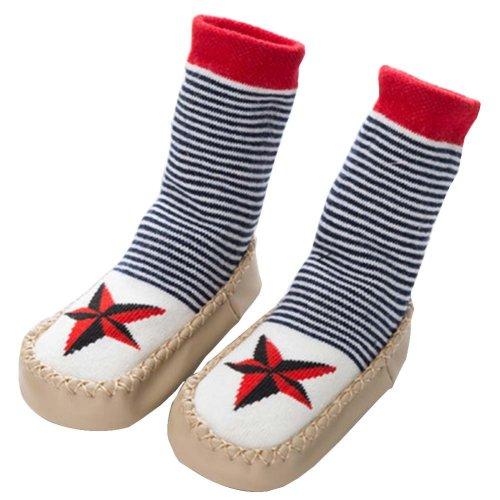 Baby Winter Socks Warm Socks Toddler Shoes Non-slip [Star]