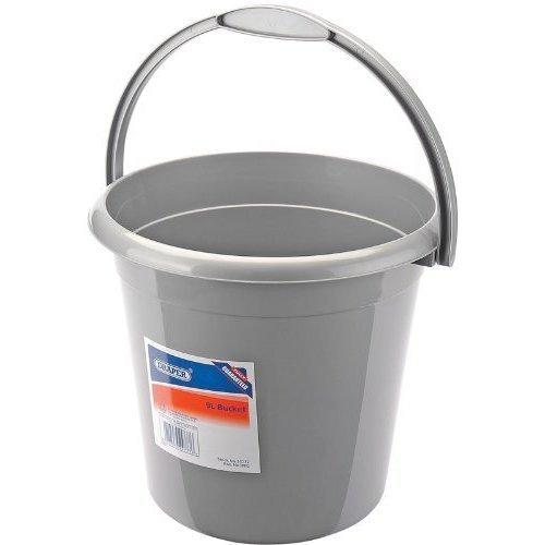 Domestic 9 Litre Bucket - Draper 9l Plastic 24777 -  draper bucket 9l plastic 24777