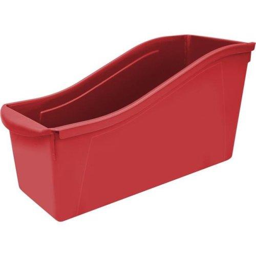 Storex STX71102U06CBN Red Large Book Bin, Pack of 6