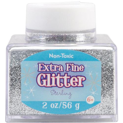 Extra Fine Glitter 2oz-Silver