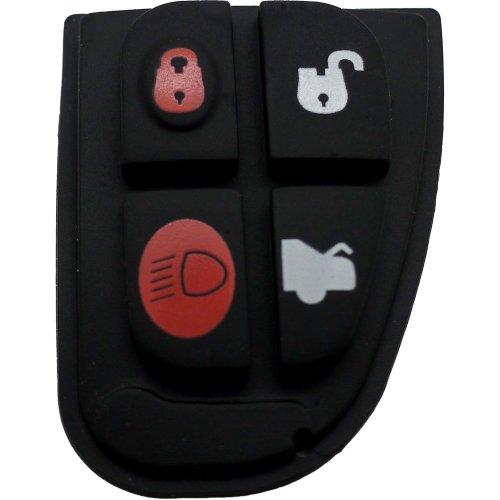 Fits Jaguar X Type XF E S 4 Button Remote Key Fob Rubber Pad Repair Kit